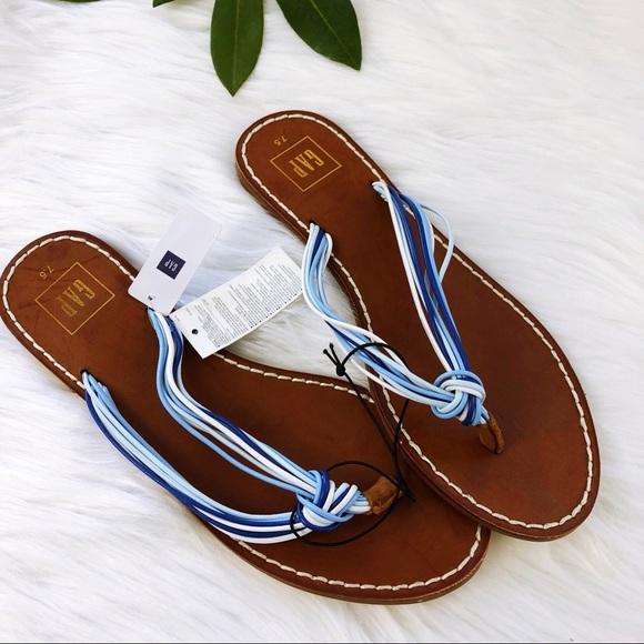 626377643e GAP Shoes | Blue Multi Rope Stripe Flip Flops 75 | Poshmark